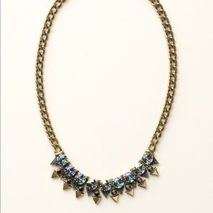 Sorrelli Dress Blues Crystal+Metal Spike Necklace